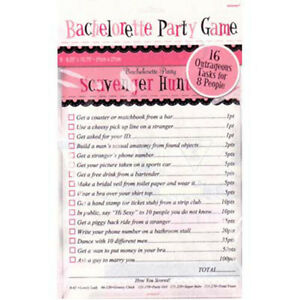 Party Decorations Supplies  Hens Night Bridal Shower  Scavenger Hunt Game
