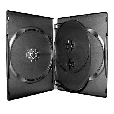 NEW! Standard Multi-Disc (2,3,4 or 6) DVD Case w/tray 3-pack Lot (14mm) Black