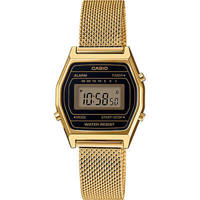 Casio LA690WEMY-1 Women's Vintage  Gold Tone Mesh Band Watch ()