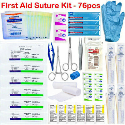 TRAUMA TACTICAL FIRST AID BUG OUT BAG MEDICAL SUPPLY STERI STRIPS SUTURE BZK KIT