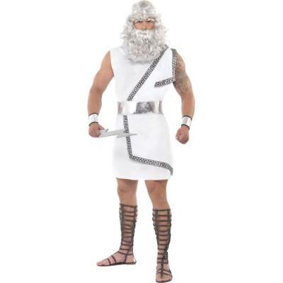 Smi - Karneval Herren Kostüm Zeus Toga griechischer Gott Größe - Toga Kostüm Herren