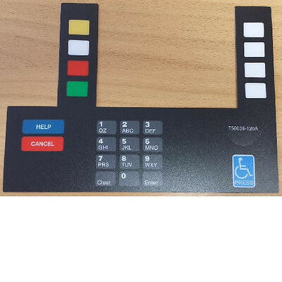 Gilbarco T50038-120a Advantage Monochrome Keypad Overlay