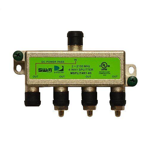 10 DIRECTV   4-Way High Frequency MRV GREEN LABEL SWM Splitter MSPLIT4R1 NEW