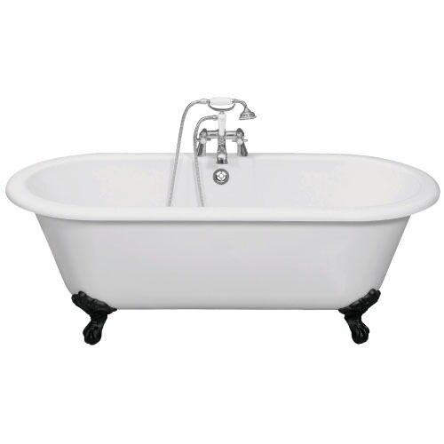 Double Ended Freestanding Bath With Cast Iron Feet