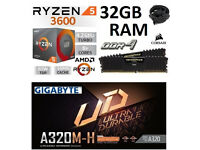 Ryzen 5 3600 + 32GB RAM + Motherboard Bundle