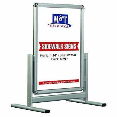 Outdoor Snap Sign Advertising Sidewalk Display 22x28 Black Round Corner