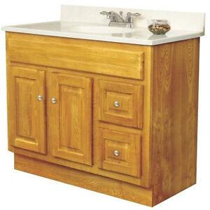 sunco 36 034 x 21 034 d oak bathroom vanity cabinet for single bowl 2 door 2 drawer ebay