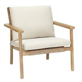John Lewis Croft Collection Islay Lounging Armchair, Natural rrp £250