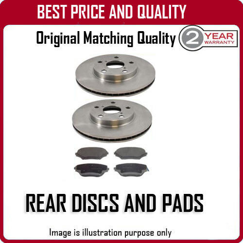 REAR DISCS AND PADS FOR LEXUS IS220D 2.2D 1/2006-
