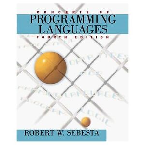 Concepts of programming languages 4th edition Sebesta London Ontario image 1