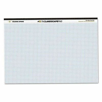 Roaring Spring Wide Landscape Graph Paper Pad - 40 Sheet - 20 Lb - Quad Ruled -