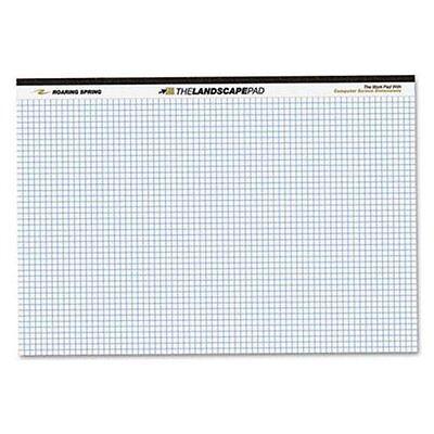 Roaring Spring Wide Landscape Graph Paper Pad - 40 Sheet - 20 Lb - Quad 74505