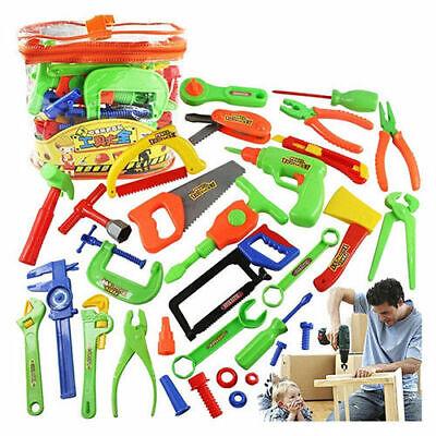 Werkzeugkoffer für Kinder Bohrmaschine Werkzeug Hammer Spielzeug Zubehör SET