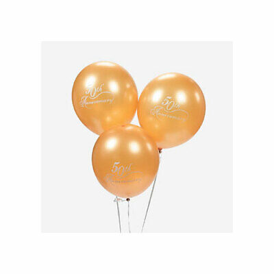 50th Wedding Anniversary Balloons Decorations (50th Wedding Anniversary Gold Balloons Pack of 12 Anniversary Party)
