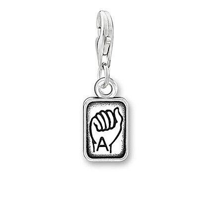 Sign Language Charm Pendant for Bracelets or Necklaces