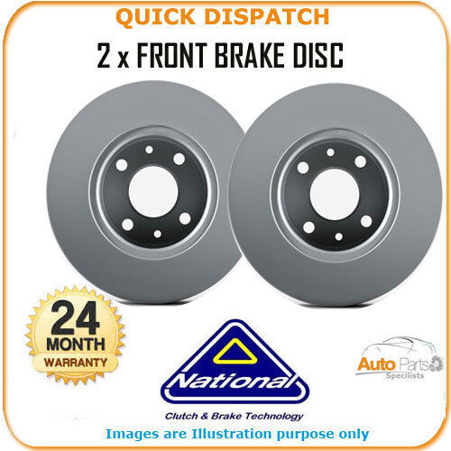 2 X FRONT BRAKE DISCS  FOR NISSAN SUNNY NBD141