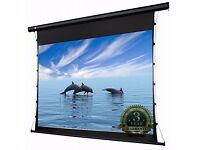 PCW120MET 120'' HD Projector Screen 16:9 Widescreen Tab-Tensioned Electric Motorised w/ RF Remote