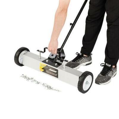 24 Heavy Duty Magnetic Floor Sweeper Xl Wide Pick Up Roller Push Broom Tool