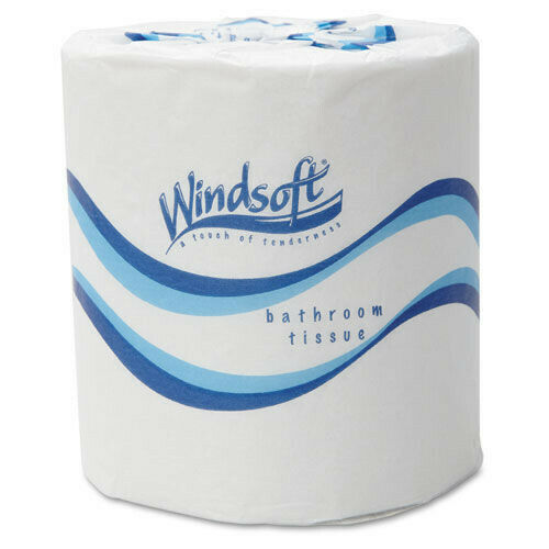 "Windsoft 2405 48 RL/CT, 500 ST/RL 2-Ply 4.5"" x 3"" Bath Tissues - WHT New"