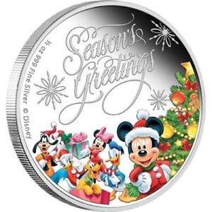 Disney Niue $1 Dollar 1/2 oz Silver Proof Coin 2014 Season's