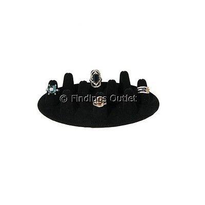 Black Velvet Ten Finger Ring Jewelry Display