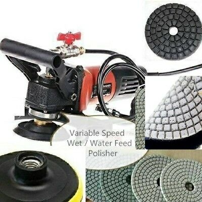 Wet Grinder Polisher Concrete Masonry Granite Polishing Pad 324 Buffer Terrazzo