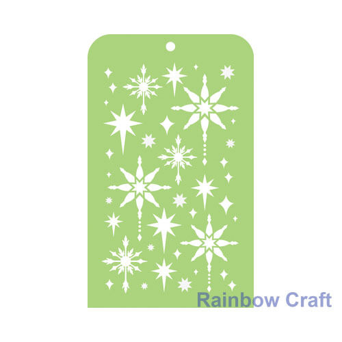 Kaisercraft Mini Designer Templates Stencils Blossom Christmas Holly Leaves - Fancy Stars