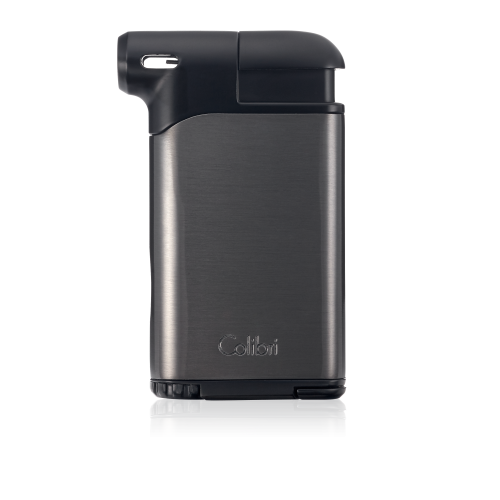 New Colibri Pacific Air Pipe Lighter Soft Flame in Brushed G