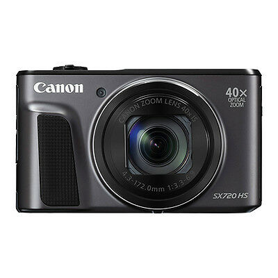 Canon PowerShot SX720 HS 20.3MP Digital Camera 40x Optical Zoom WiFi / NFC Black
