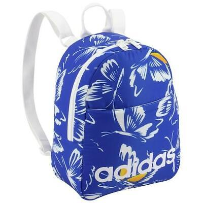 "adidas Core Mini Backpack, FARM Rio Butterfly Blue White, 9""L x 4½""W x 11""H"