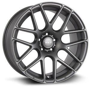"18"" Wheels Set Honda Mazda Hyundai Kia Lexus Nissan Ford Toyota Audi Mercedes Volkswagen Roue Mag Wheel Matte Gun Metal"