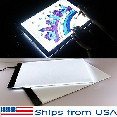 2017 Hot A4 LED Artist Thin Art Stencil Board Light Box Tracing Drawing Board SL