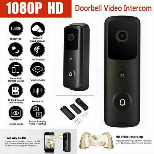 1080p Wireless WiFi Smart Video Doorbell Door Intercom Security Camera Bell PIR