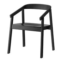 IKEA Dining Chair, black Arm rest