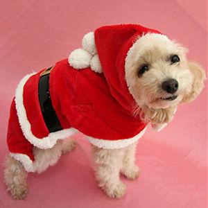 animal de compagnie cool chien no l v tements p re costume v tement no l manteau ebay. Black Bedroom Furniture Sets. Home Design Ideas