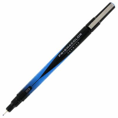 14192 PrismaColor Premier Fine Line Marker, 0.3mm Tip, Blue Ink, 1 Each