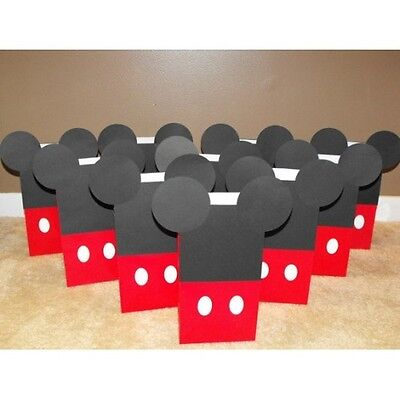 10 PC DISNEY MICKEY MOUSE GOODY GIFT BAGS PARTY FAVORS CANDY TREAT BIRTHDAY BAG - Mickey Treat Bags