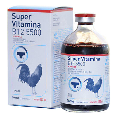 Super Vitamina B12 5500 Tornel 100ml Gallos Exp 2022