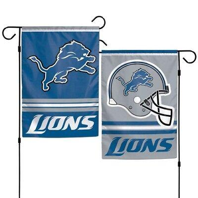 Brand New Nfl Detroit Lions   2 Sided 12  X 18  Garden Flag Wincraft