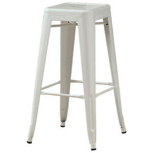 "*MONARCH* I 2400 30"" BAR STOOLS - WHITE (Pair)"