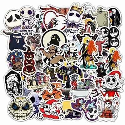Halloween Sticker Decals 50 Pack Nightmare Before Christmas Tim Burton