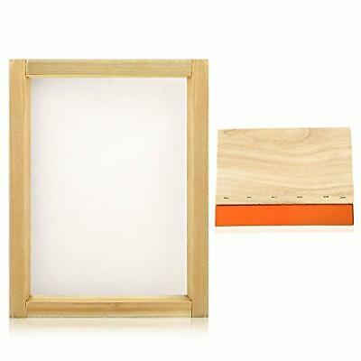 Caydo 8 X 10 Inch Wood Silk Screen Printing Frame With 110 White Mesh And 1 P69