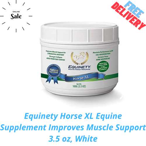 Equinety Horse XL Equine Supplement Improves Muscle Support 3.5 Oz, White - $42.99