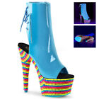 Stiletto Blue Ankle Boots for Women