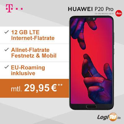 Huawei P20 Pro Handy mit Telekom Vertrag 12GB Allnet Flat inkl. 29,95? mtl.