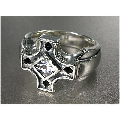 Cross Ring w Cubic Zirconia Sterling Silver.925 fromJPN
