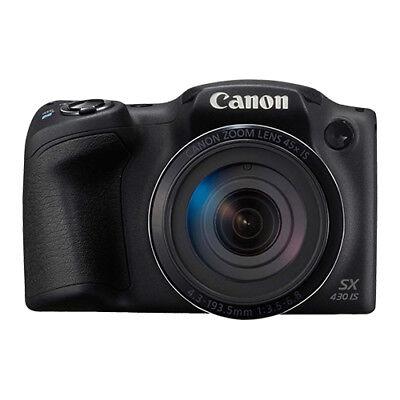 Canon PowerShot SX430 IS 20MP Digital Camera 45x Optical Zoom Black Wi-Fi / NFC