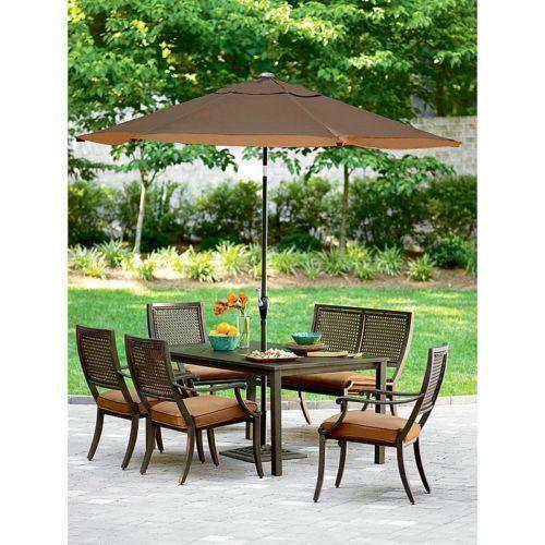 outdoor patio table ebay - Patio Table With Umbrella