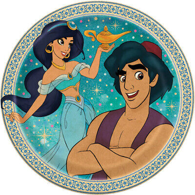 ALADDIN SMALL PAPER PLATES (8) ~ Birthday Party Supplies Cake Dessert