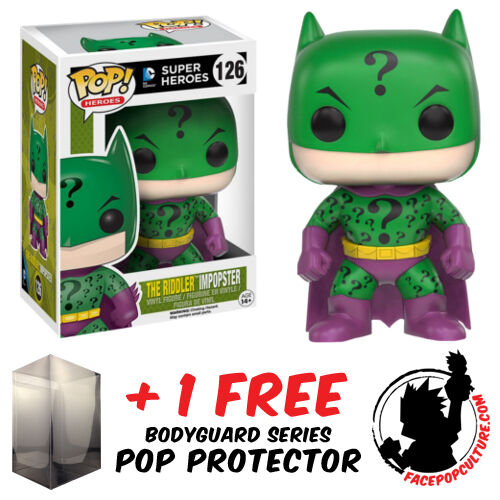 FUNKO POP DC COMICS THE RIDDLER IMPOPSTER VINYL FIGURE + FREE POP PROTECTOR